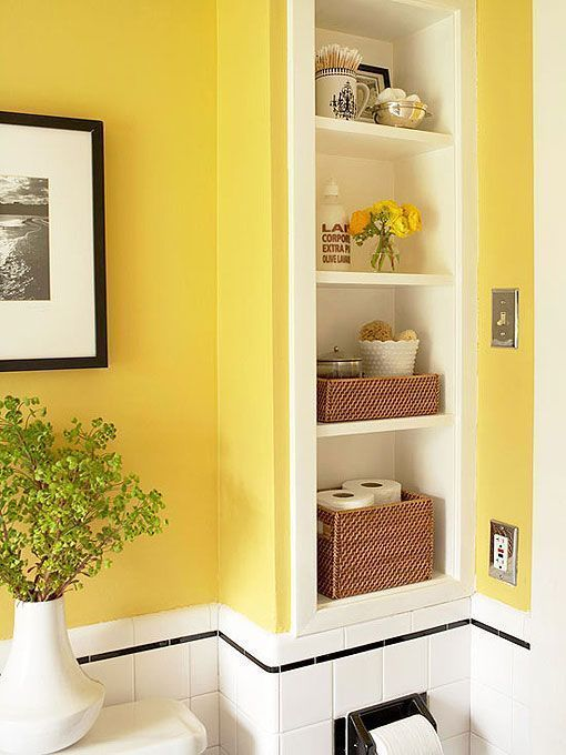 Zonas de almacén en baños pequeños | toilet | Pinterest | Yellow ...