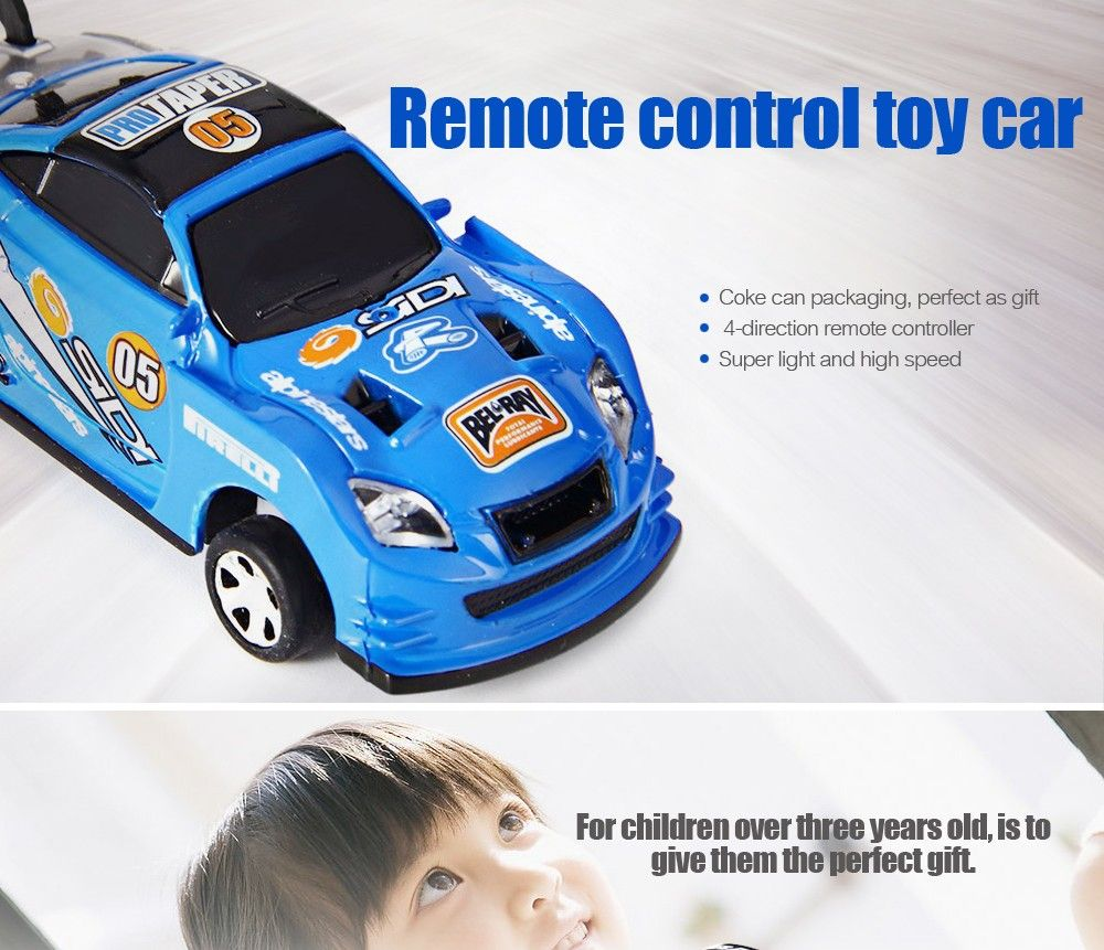 19 17 Awesome 7 Colors Mini Car E Can Rc Radio Remote Control Racing Truck Micro Toy Road Blocks Electric Kid Toys Gifts Carrinho De It Now