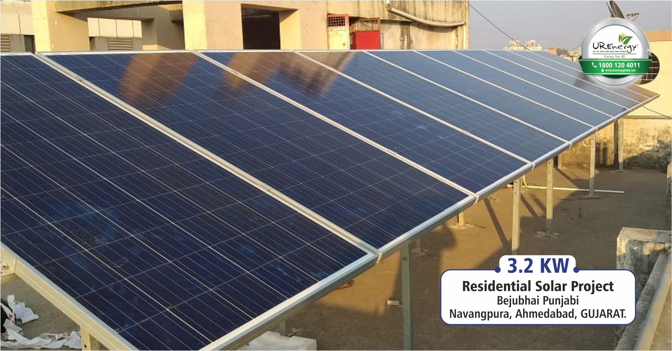 3 2 Kw Residential Rooftop Solar Panel System Installed At Ahmedabad Gujarat India By U R Energy Team For More Info Visit
