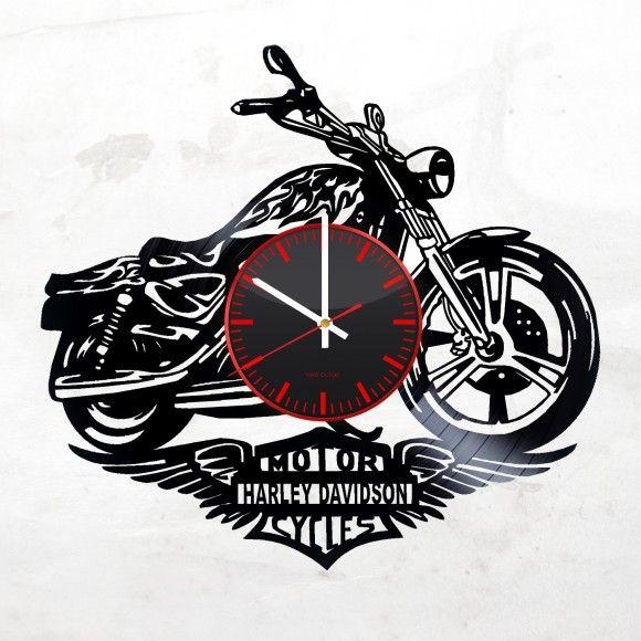 Vinyl Wall Clock Harley Davidson Gifts Harley Davidson Wall Clock