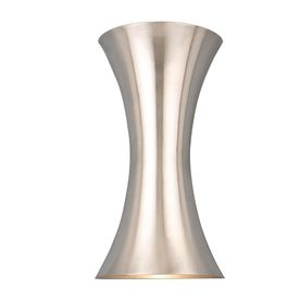 Bathroom Sconces Nickel style selections 6.75-in w 2-light brushed nickel finish pocket