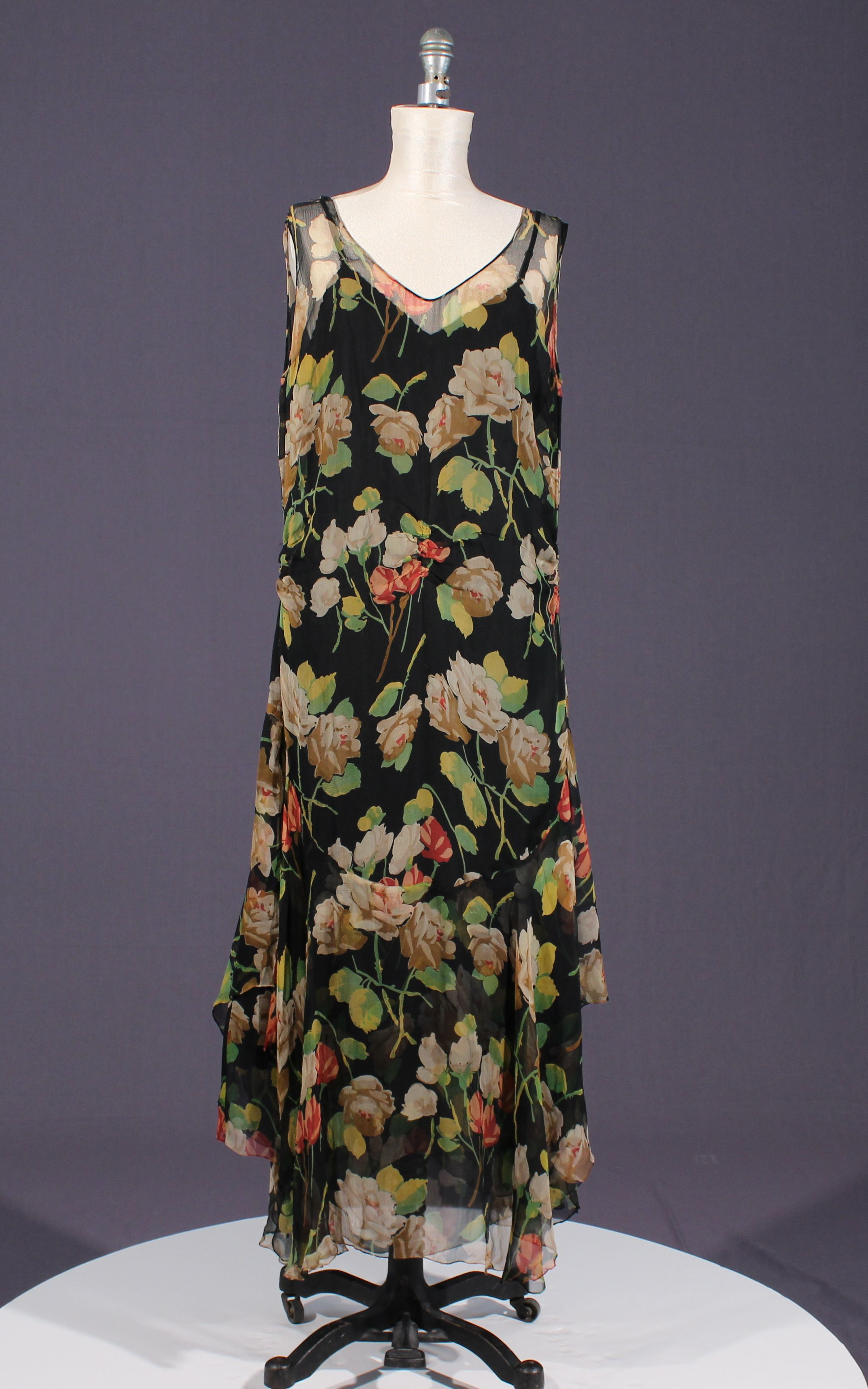rose printed chiffon 1920s dress | moda | Pinterest | Siglo xvi y ...