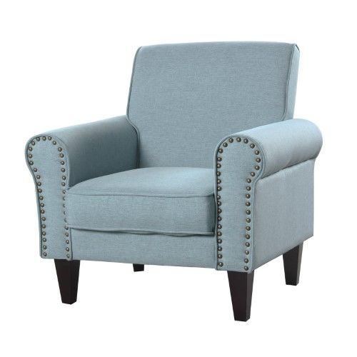 Upholstered Chair With Nailhead Trim Massage Therapy Chairs For Sale Russ160 Accent Purple