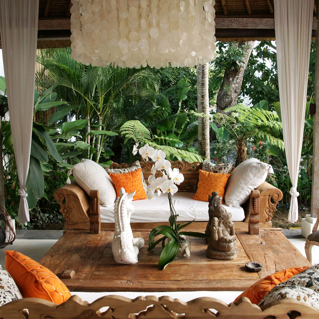 Enjoy your outdoor space in indonesia sit back and relax for Balinese decoration