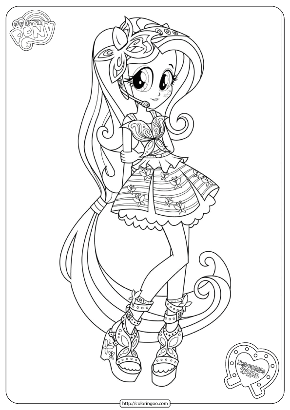 Printable Equestria Girls Fluttershy Coloring Pages My Little Pony  Coloring, Unicorn Coloring Pages, Princess Coloring Pages