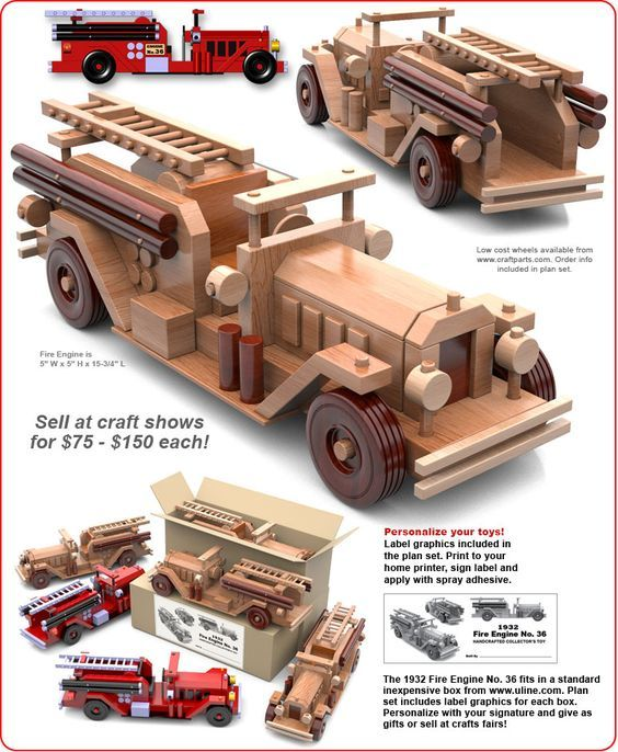 Table Saw Magic 1932 Fire Engine No 36 Wood Toy Plans Pdf