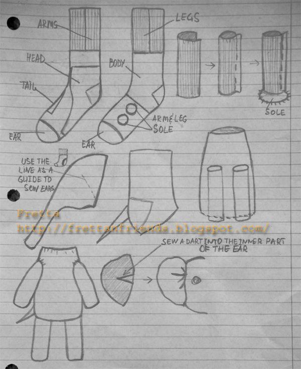 Fretta: Sock Elephant. Free pattern & tutorial | Costura | Pinterest ...
