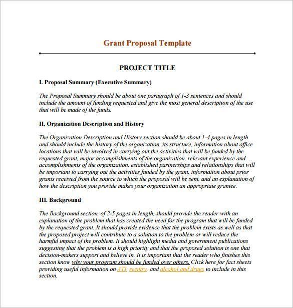 Examples Of Grant Proposals #webdesignproposalpdf Responsive Web