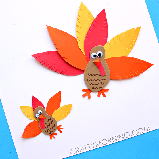 Simple Craft Ideas For Kids With Paper Part - 18: Make A Simple Paper Turkey Craft With Your Kids For Thanksgiving!