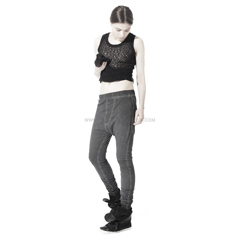 Dirty jersey trousers with ribbed ankle.. http://www.xXx-Berlin.com