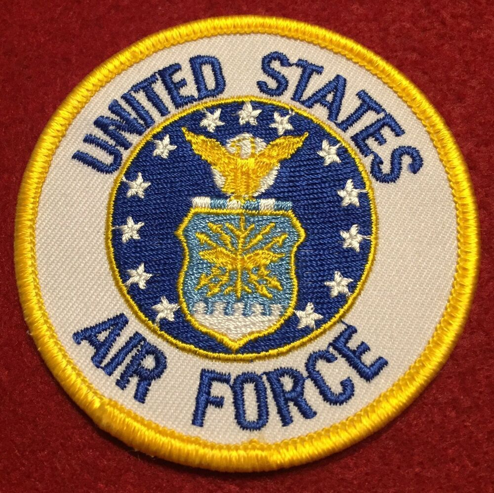 United States Air Force USAAF Patch Full Color Iron On