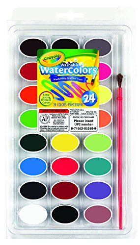 Kids Watercolor Paint Crayola 24 Ct Washable Watercolors