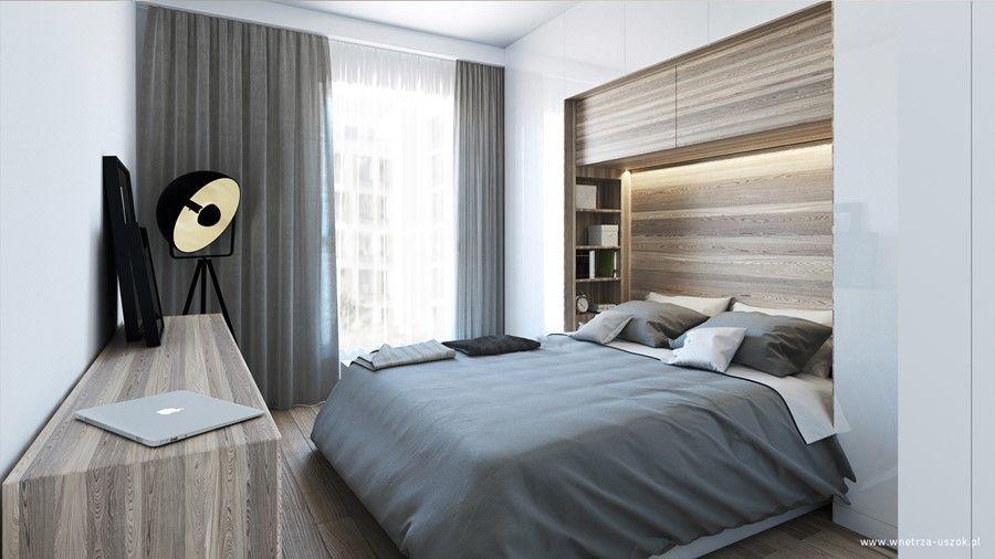 Zabudowane Lozko W Sypialni Small Bedroom Remodel Fitted Bedroom Furniture Small Apartment Design