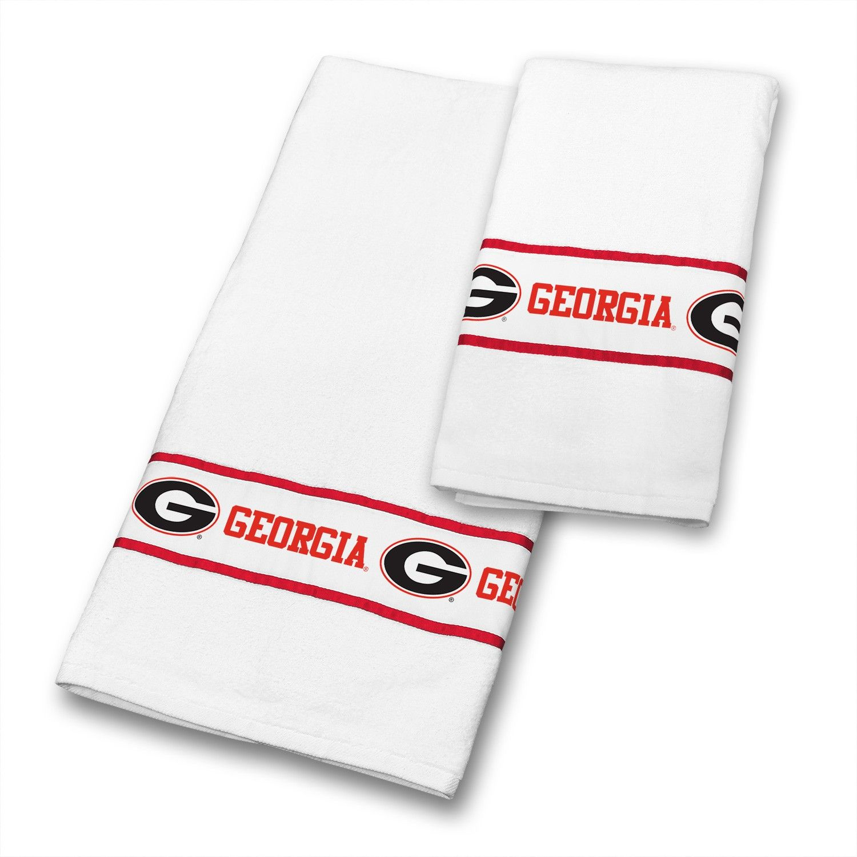 Georgia UGA Bulldogs NCAA Bathroom U0026 Hand Towels Set