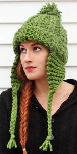08366f53d41 Free Knitting Pattern Super Bulky Earflap Knit
