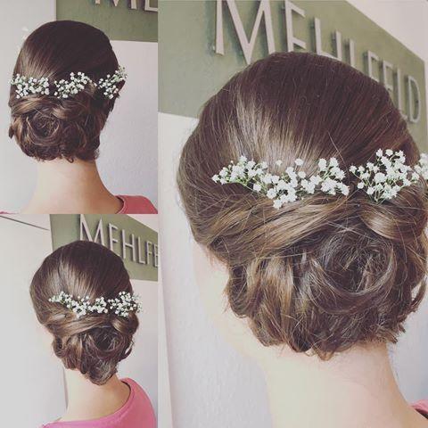 Frisuren Vintage Hochzeit Mit Schleierkraut Frisur