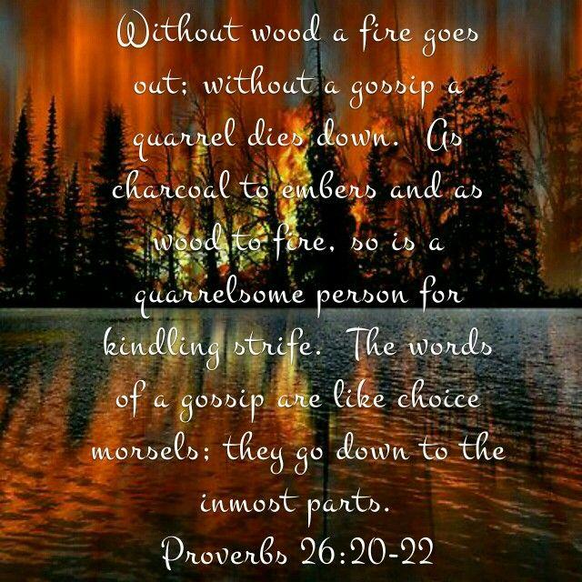 Gossip Proverbs 26:20-22 | Verses | Proverbs 26, Bible