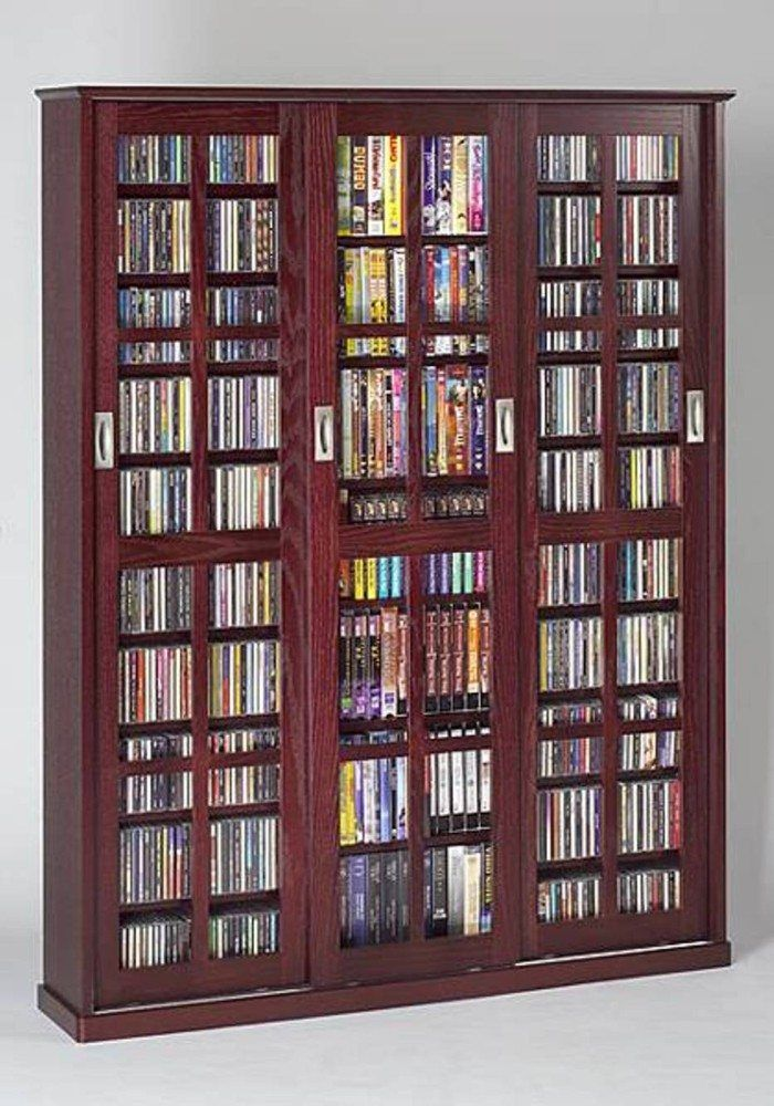 Sliding Door Cabinet Dvd Storage Solution Dvd Storage Solution