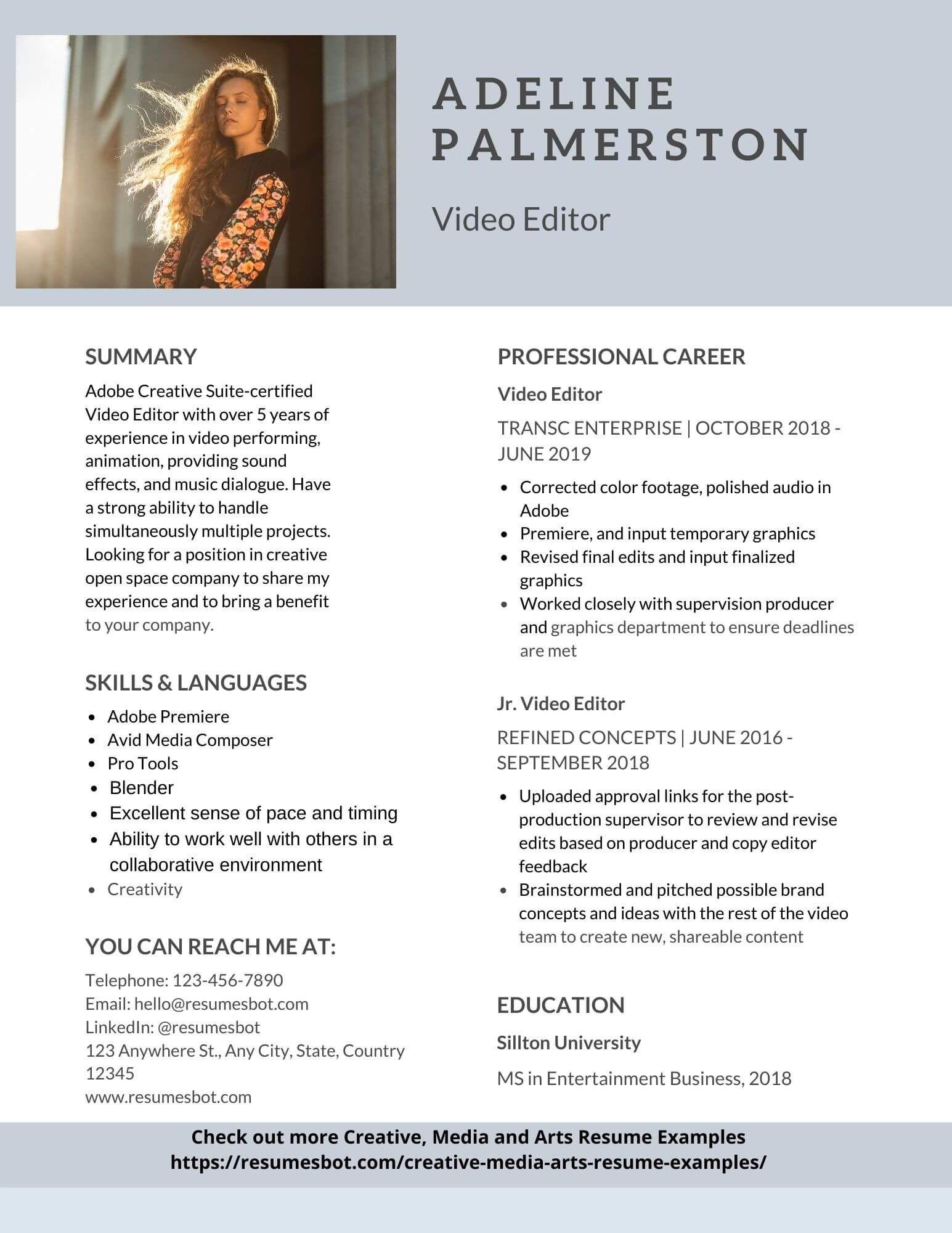 Pdf Resume Editor Online