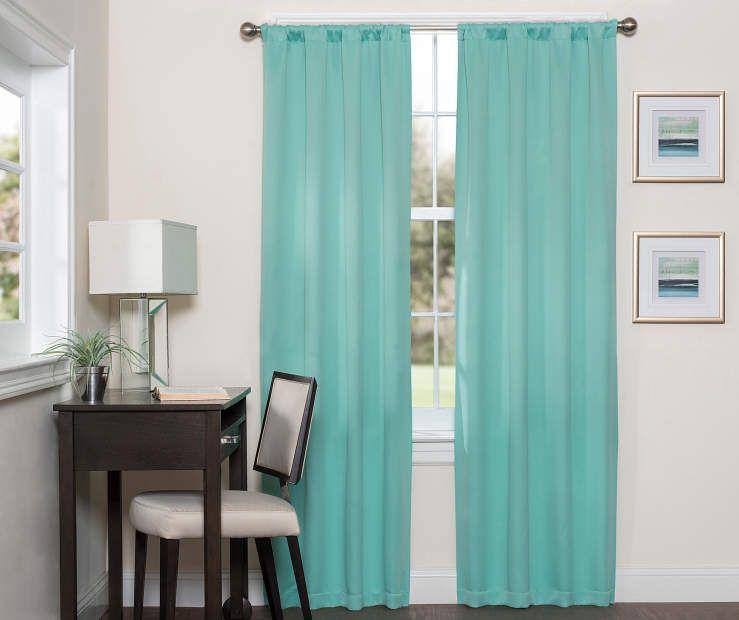 Sundown Danton Mint Thermaweave Blackout Single Curtain Panels Panel Curtains Cool Curtains Curtains