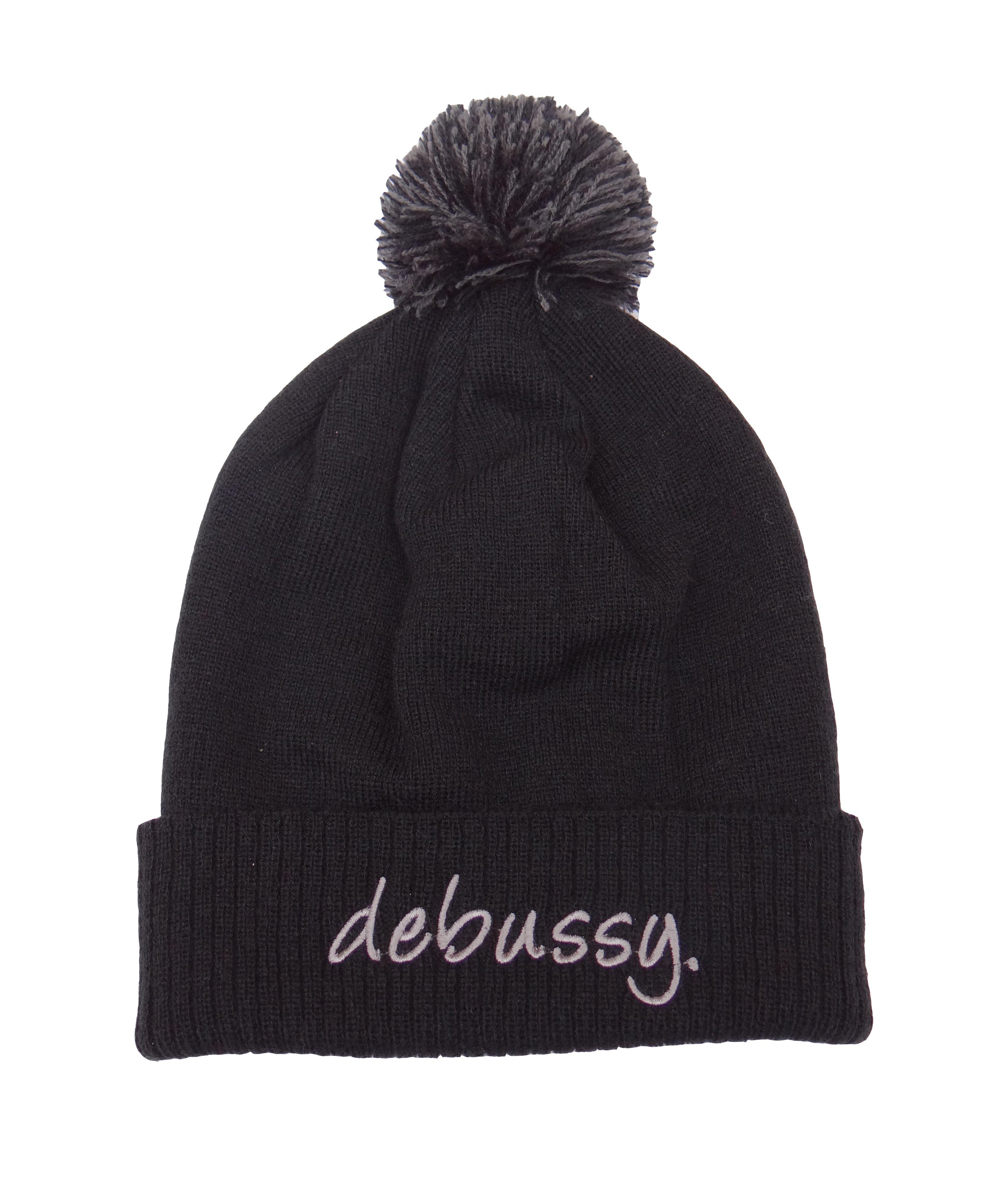 DEBUSSY CLASSIC BLACK & GRAPHITE BEANIE HAT