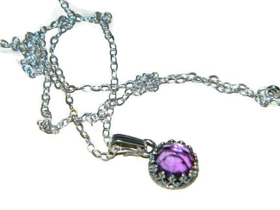 Amethyst Necklace Sterling Silver 18 Inch by JewelrybyDecember67, $42.00