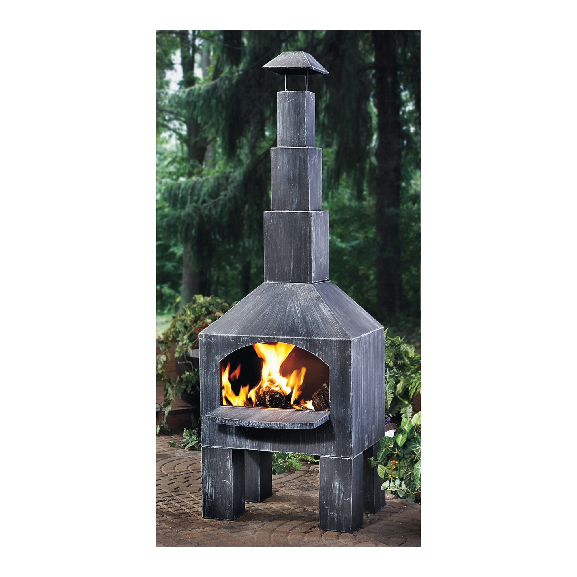 Outdoor Cooking Steel Chiminea With Smoke Stack Www Kotulas Com Free Shipping Fire Pit Backyard Fire Pit Patio Outdoor Fire