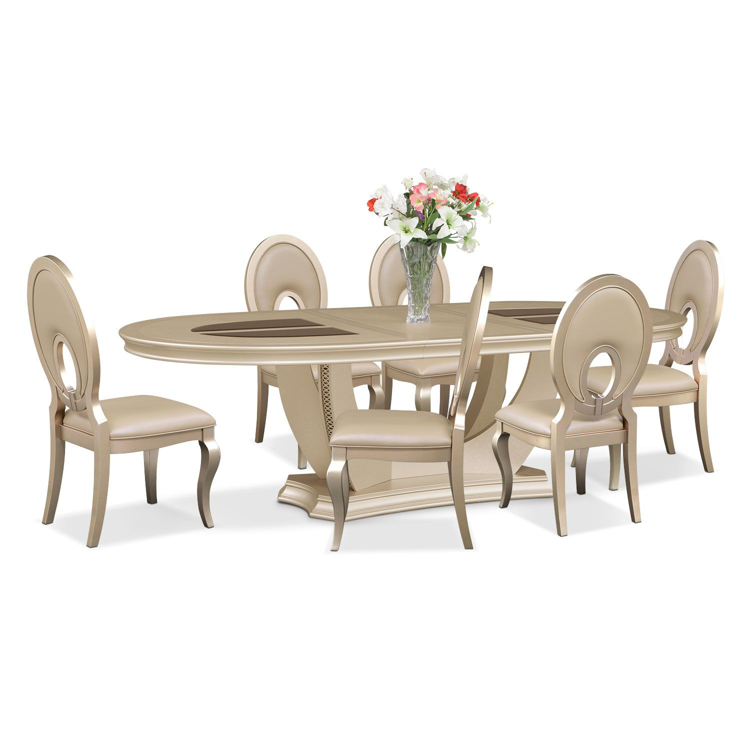 Dining Room Furniture Allegro 7 Pc Dining Room Oval