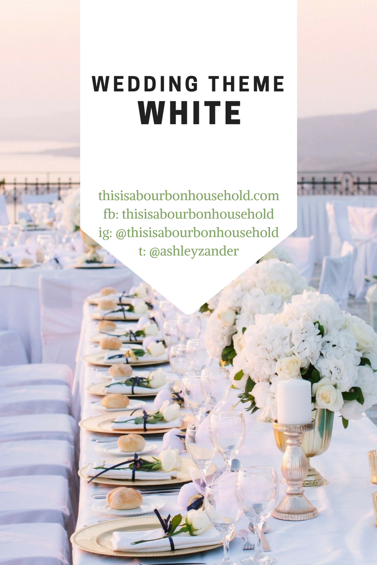 White Theme Wedding Ideas . . Background photo used from https://pin ...