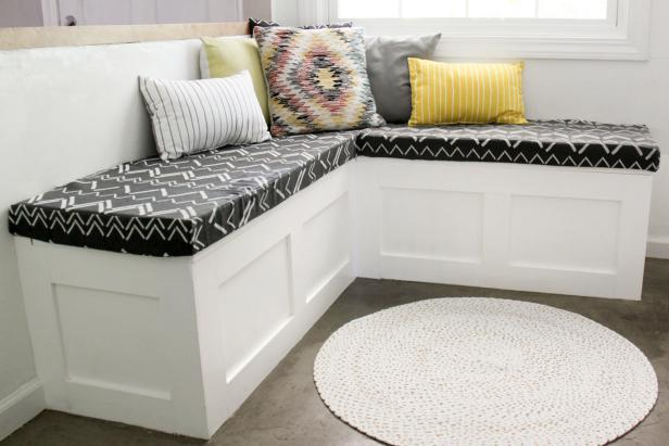 How to Build a Banquette Seat With Built-in Storage