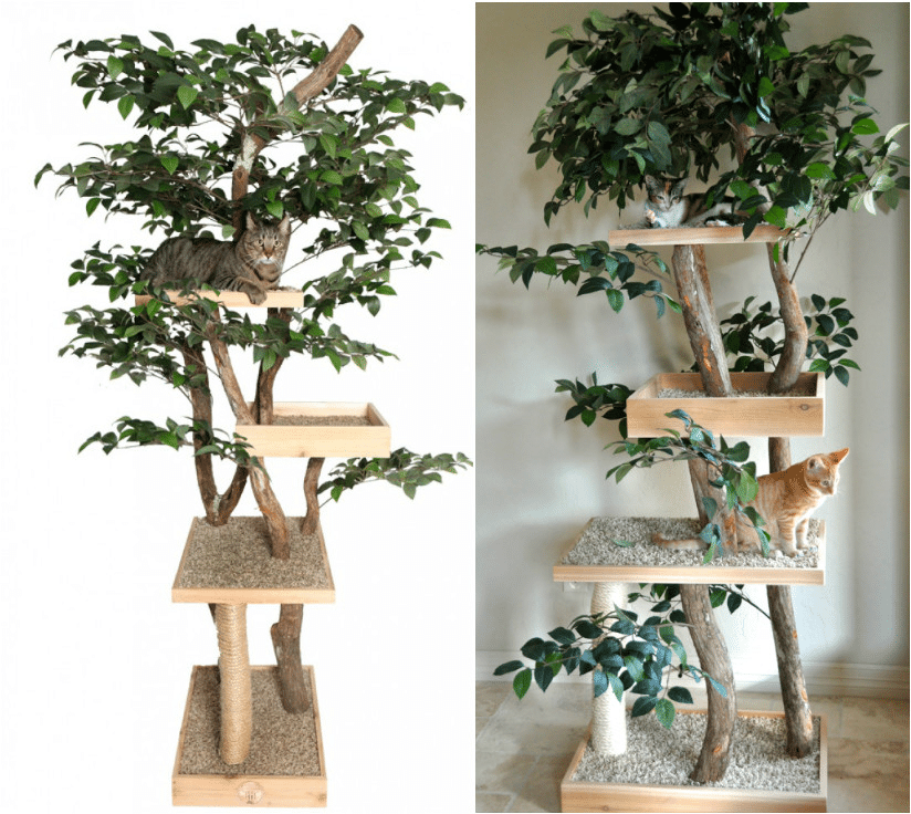Make a real diy cat tree pinteres for How to build a cat tree