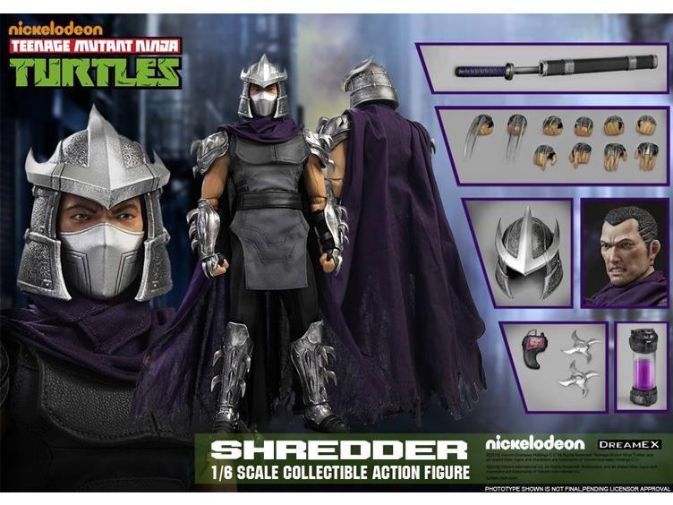 Teenage Mutant Ninja Turtles Master Splinter Shredder Action Figure Toys 6 PCS