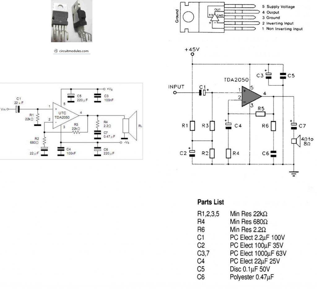 10w Mini Audio Amplifier Circuit