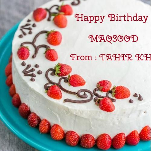 Amazing Strawberry Surprise Birthday Cake With Your Name With Images Funny Birthday Cards Online Alyptdamsfinfo