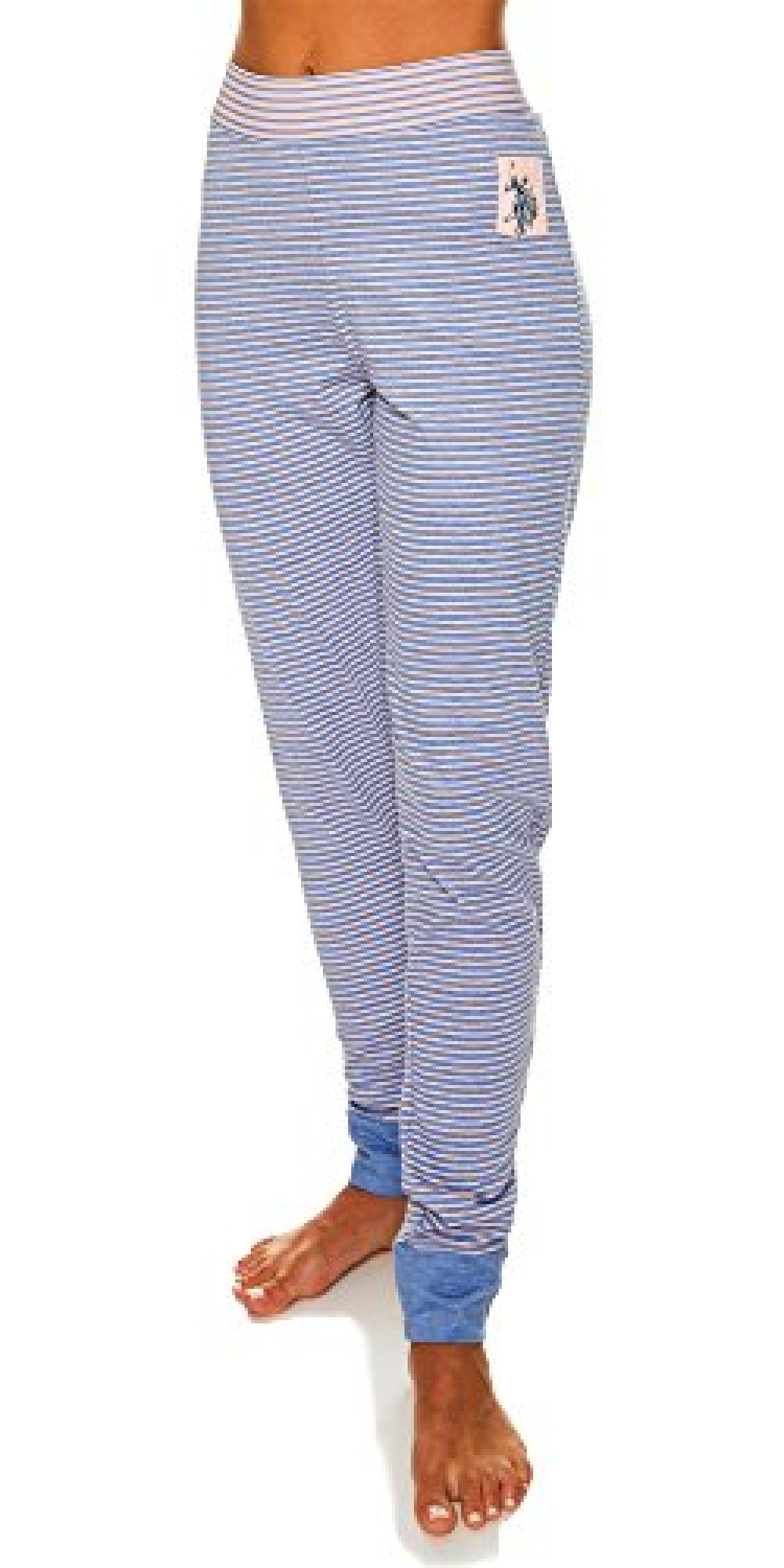 U.S Polo Assn Womens Elastic Waistband Lounge//Pajama Sleep Shorts