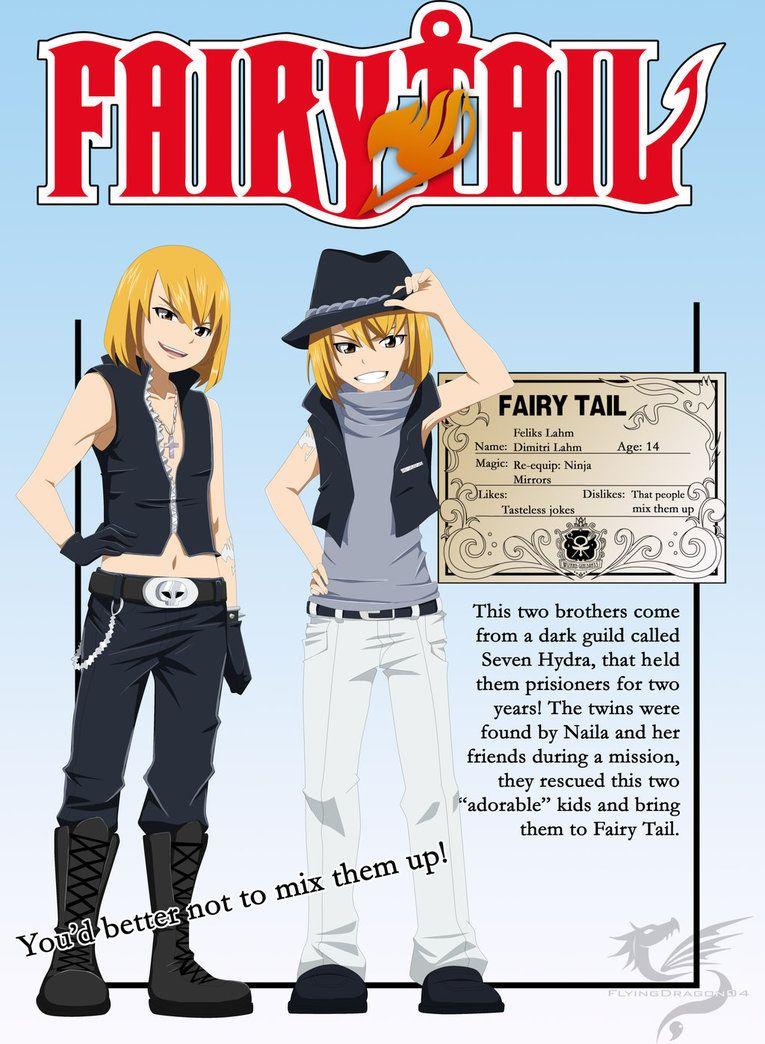fairy tail oc   Fairy Tail OC - Feliks and Dimitri Lahm (card) by ...