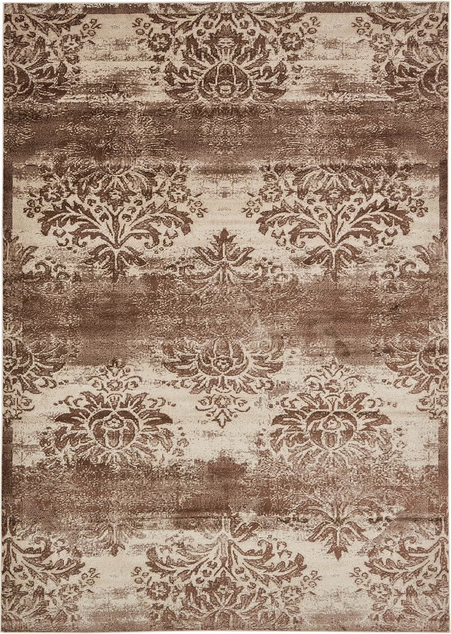 Mathieu Dark Beige/Cream Area Rug