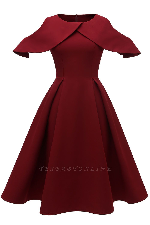 Lovely Scoop Neck Half Sleeves Front Cross Vintage Short Dresses Vintage Short Dress Short Dresses Vintage Dresses [ 1500 x 1000 Pixel ]