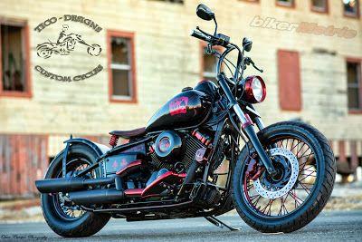 dead man's hand yamaha v-star 650 by tico-designs custom cycles