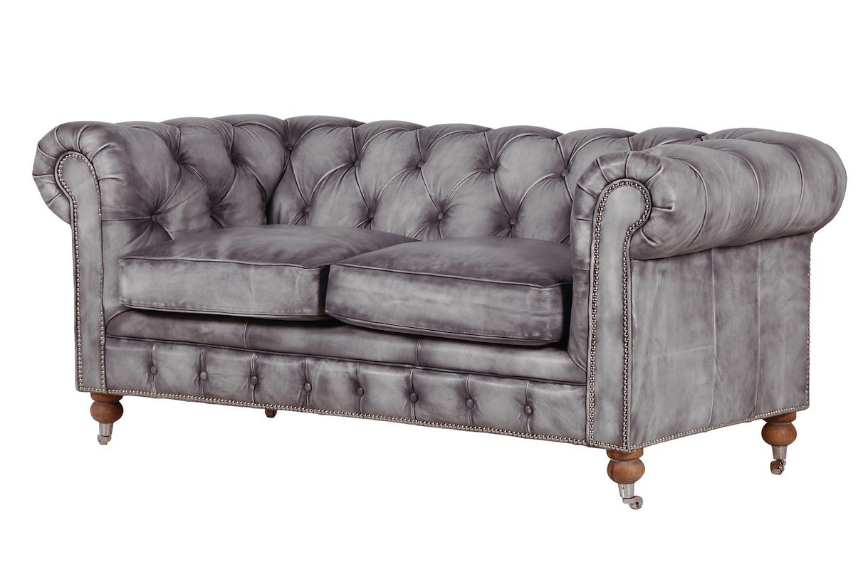 Bellagio Distressed Grey Leather Chesterfield Sofa I Want This For Our Cascina In Italy Where Can We Order It