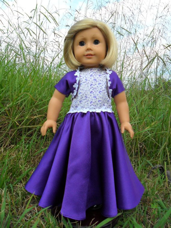 American Girl Doll Shrug Your Purple Shoulders by GreatGranDresses, $20.00