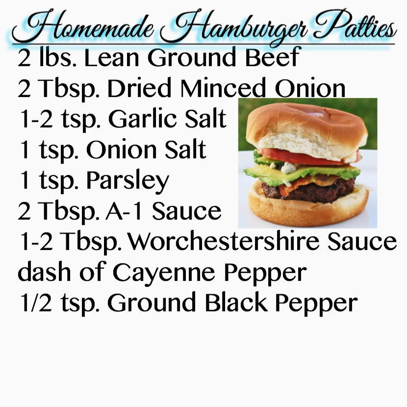 How to make recipe burger patties from ground beef