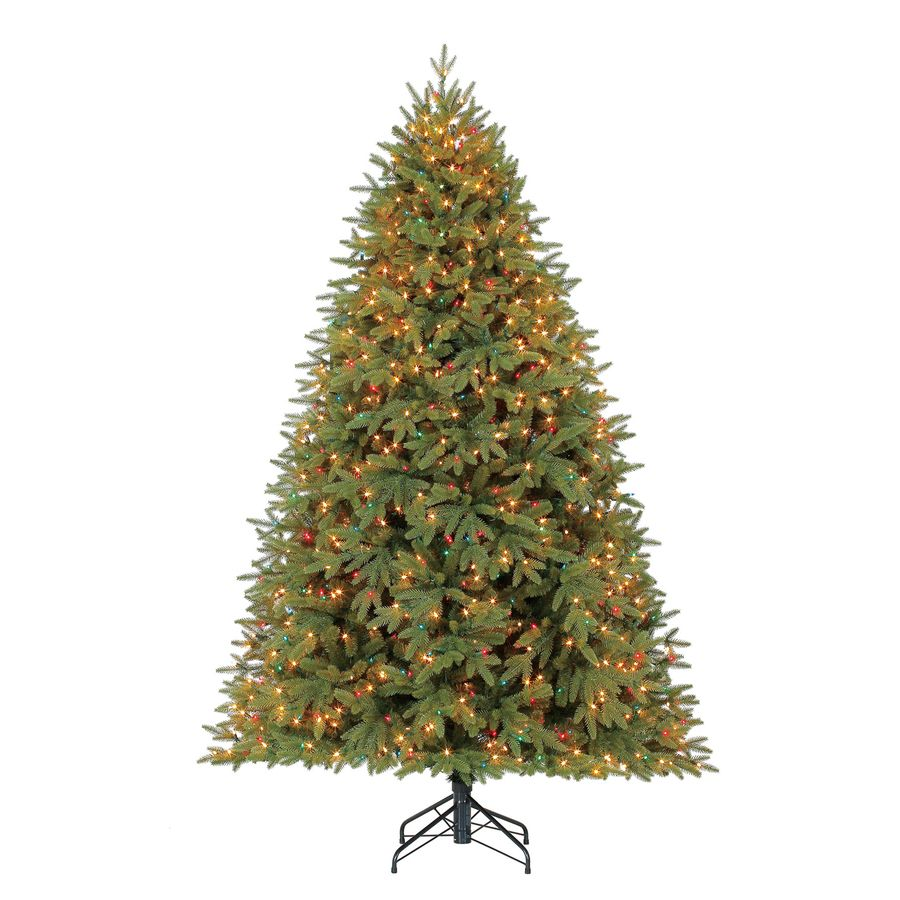Holiday Living 7 5 Ft Pre Lit Artificial Christmas Tree With 1200 Constant Multicolor Clear Incand Christmas Tree Artificial Christmas Tree Incandescent Lights