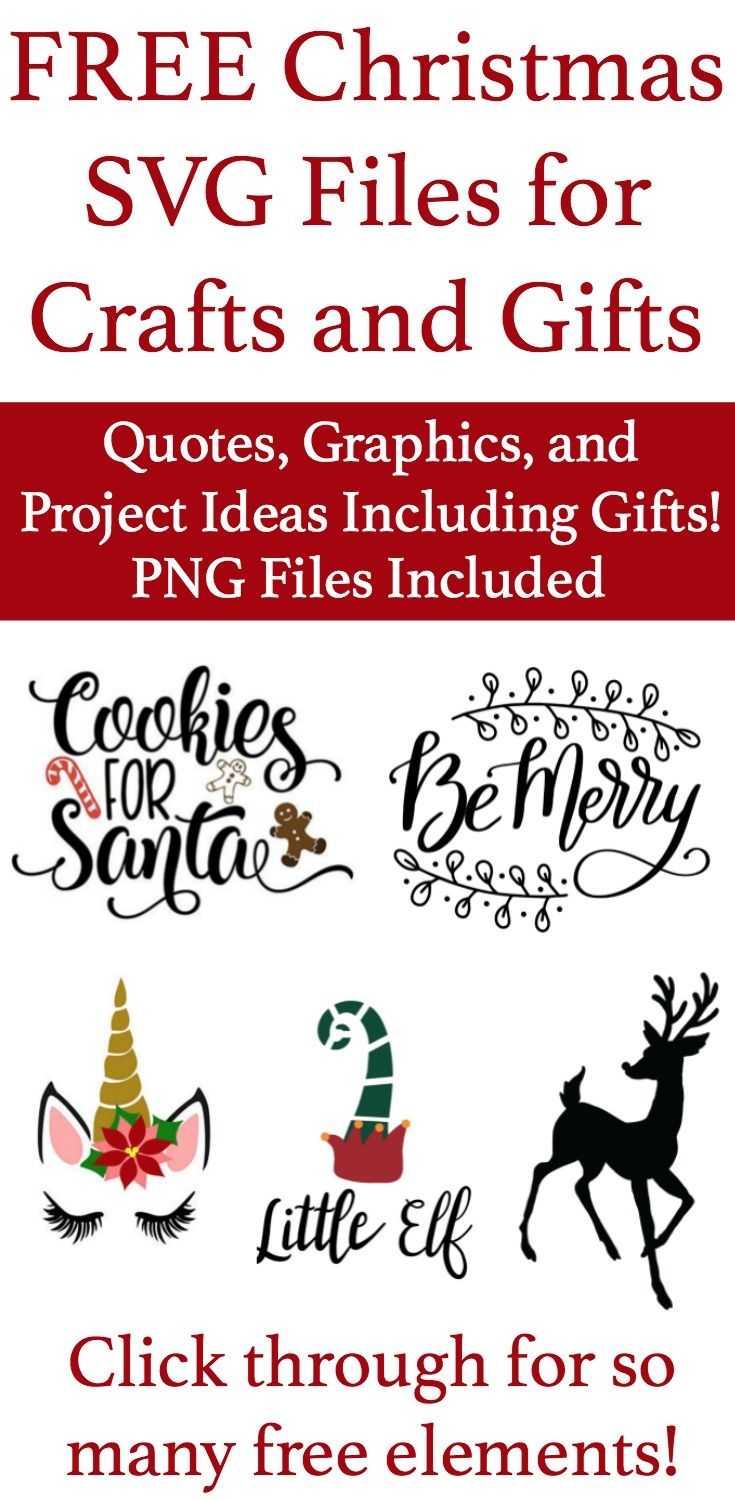 Get These Free SVG Files for Christmas Gifts and Crafts
