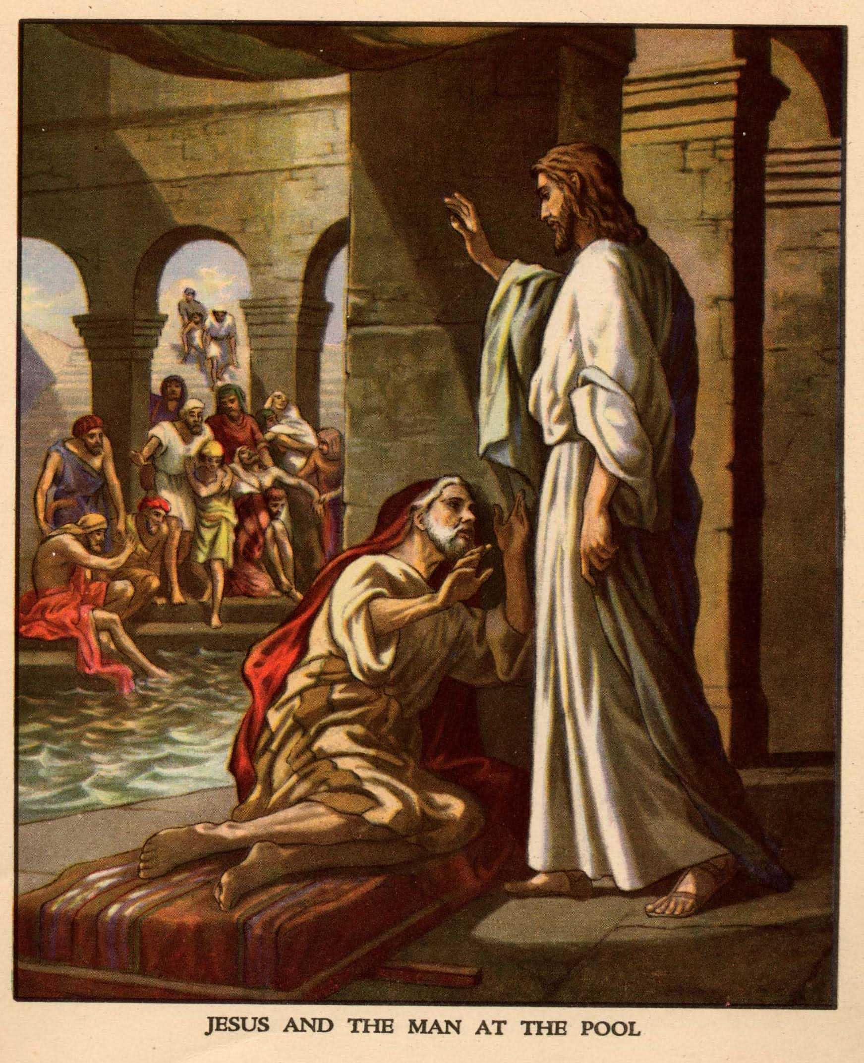 Jesus At The Pool Of Bethesda Story For Patience Lesson