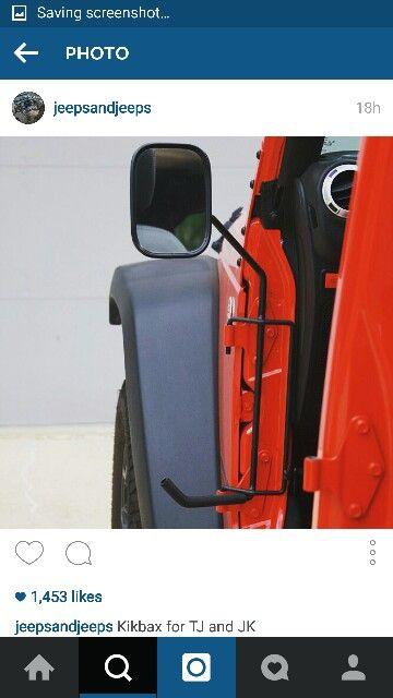 Yj Jeep Kickbax Accessories No Doors Side View Mirrors Foot Rest
