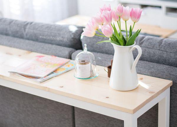 Tengo nueva mesa n rdica para detr s del sof decoraci n - Mesas para delante del sofa ...