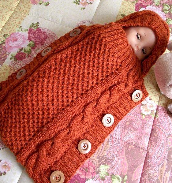 Baby Cocoon, Snuggly, Sleep Sack, Wrap Knitting Patterns | Tejido ...