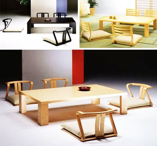 Japanese Dining Table Floor Cushions Perhaps For Use On Balcony Floor Seating Dining Furniture Makeover Floor Seating Cushions