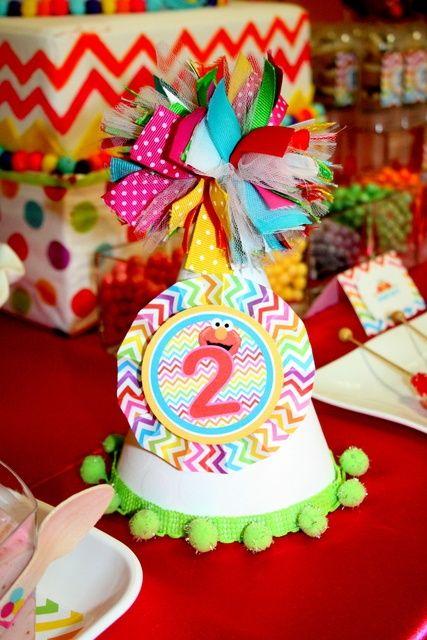Fantastic Elmo party hat #elmo #partyhat